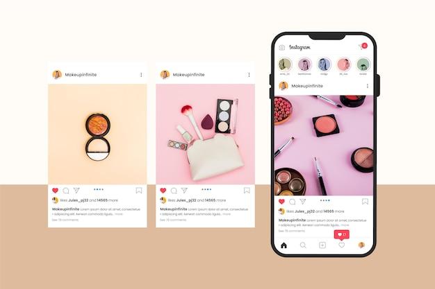 Interfaz de carrusel de instagram
