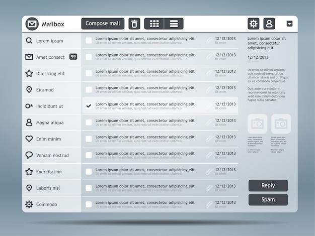 Interfaz de correo electrónico