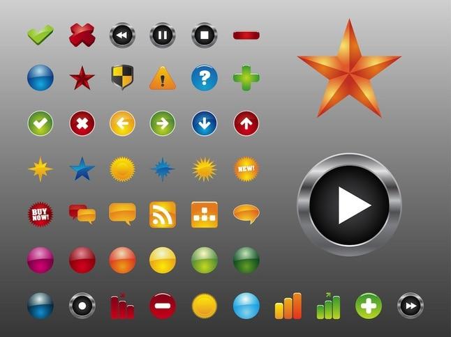 Interfaz de iconos vectoriales
