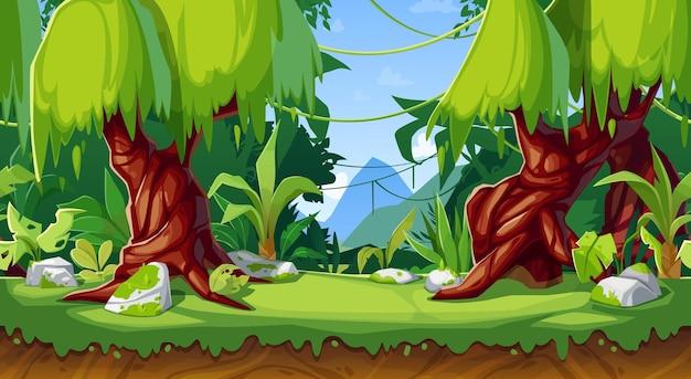 Interfaz de juego de dibujos animados