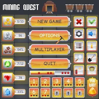 Interfaz de juego de minería
