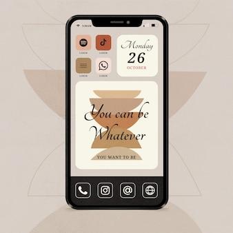 Interfaz de pantalla de inicio elegante