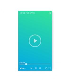 Interfaz de reproductor de video, diseño de interfaz de usuario