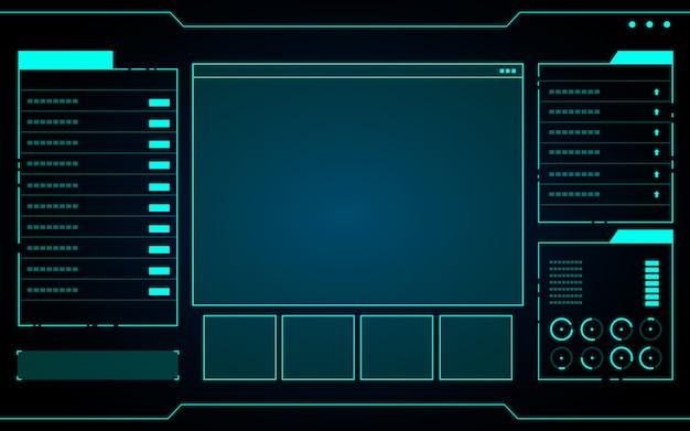 Interfaz de tecnología abstracta azul