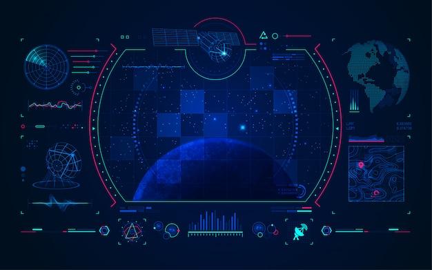 Interfaz de tecnología satelital y de comunicación