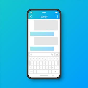 Interfaz de usuario de chat limpio