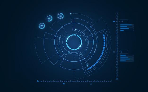 Interfaz de usuario futurista de ciencia ficción. ilustración.