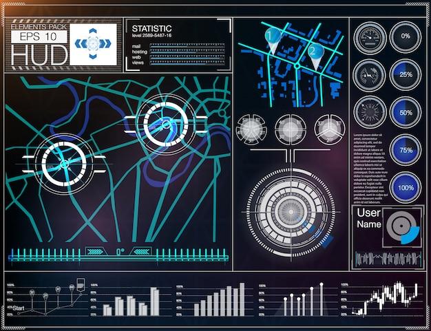 Interfaz de usuario futurista. hud ui.