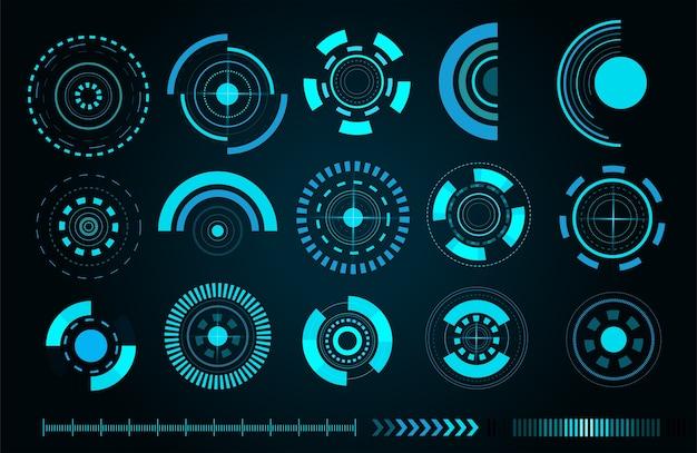 Interfaz de usuario futurista sci fi