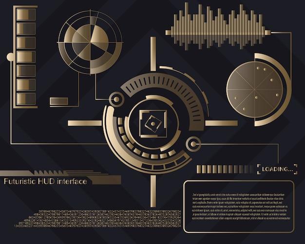 Interfaz de usuario táctil futurista de fondo hud.
