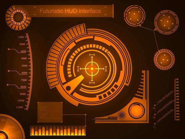 Interfaz de usuario táctil virtual futurista hud.