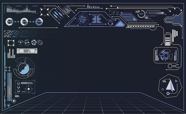 Interfaz de usuario de tecnología futurista concepto hud