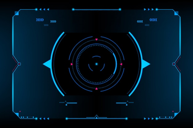 Interfaz de usuario vr del panel de hud. concept.vector futurista e ilustración