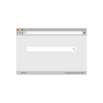Interfaz de la ventana de búsqueda de vector de página de navegador retro