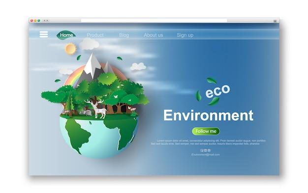 Interfaz web diseño ecológico.