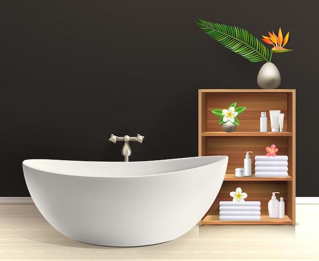 Interior de baño con muebles
