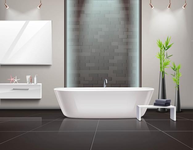 Interior de baño realista