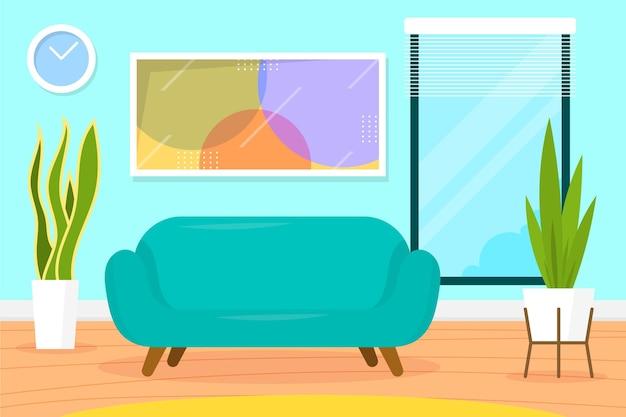 Interior de la casa - fondo para videoconferencia