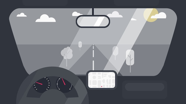 Interior del coche interior