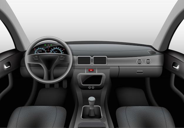Interior del coche oscuro