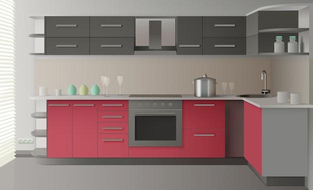 Interior de la cocina moderna