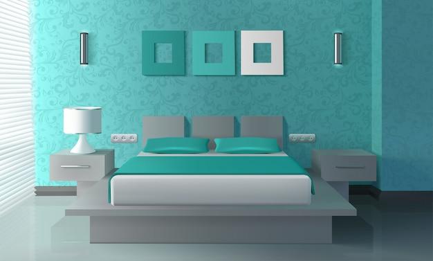 Interior de dormitorio moderno