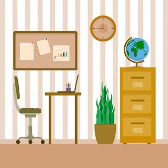 Interior de un espacio de trabajo.