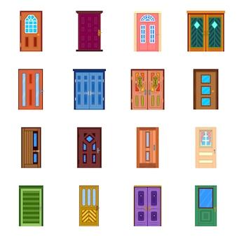 Interior y hogar. establecer el interior y el stock de construcción.