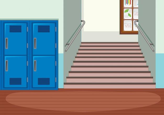 Interior interior de la escuela