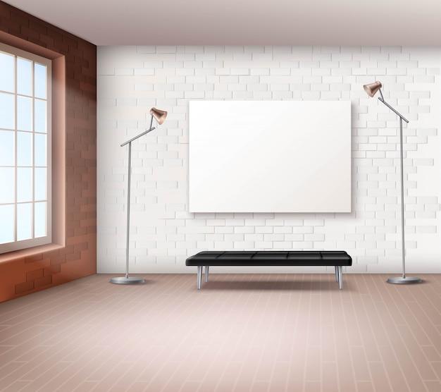 Interior de loft realista