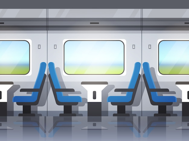 Interior moderno del tren expreso
