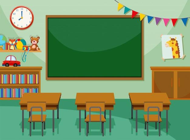 Interior de la sala de clase