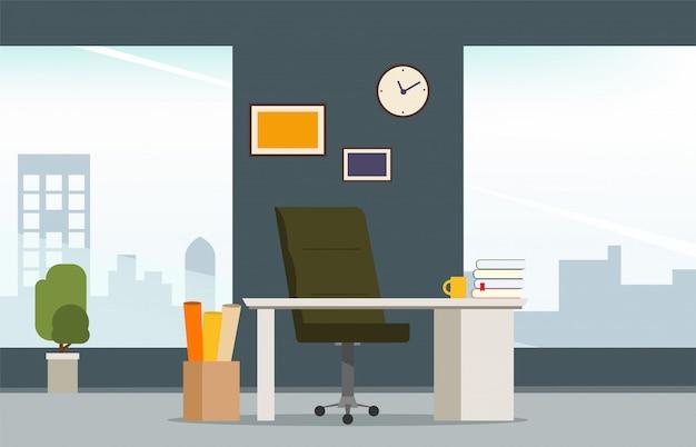 Interior de la sala de trabajo de oficina diseño de estilo moderno.