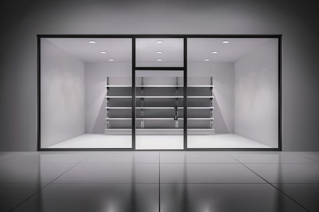 Interior de tienda 3d realista