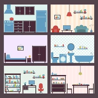 Interiores conjunto plano