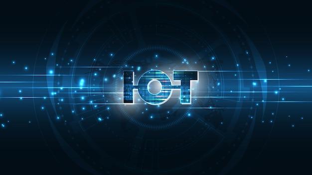 Internet de las cosas. concepto de conectividad iot. fondo de tecnología de conexión global de red