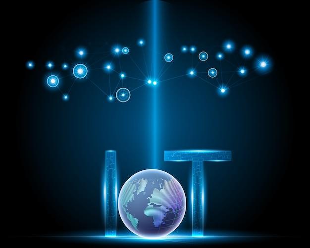 Internet de las cosas (iot) con concepto de red.