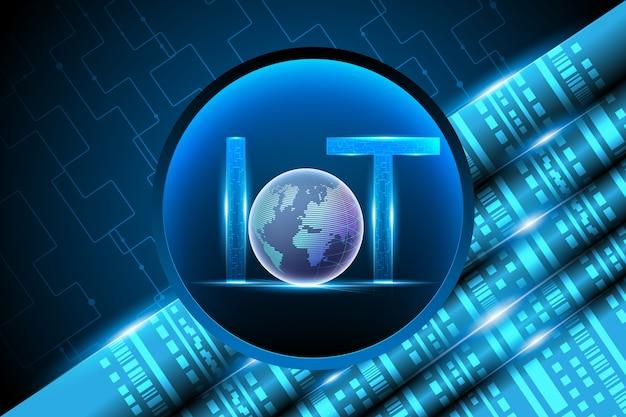 Internet de las cosas (iot) y red de datos.