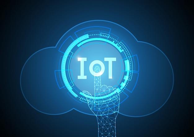 Internet de las cosas tecnología círculo nube punto. iot