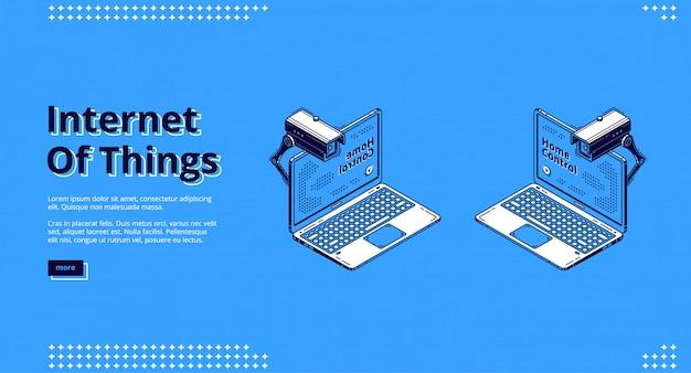 Internet de las cosas web isométrica