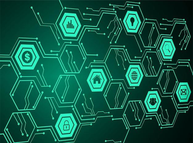 Internet de las cosas de la tecnología cibernética