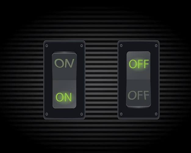 Interruptor de palanca realista genial (encendido / apagado).
