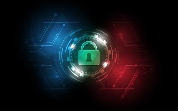 Interruptor de seguridad en el fondo de tecnología, concepto de gestión de seguridad