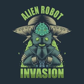 Invasión de robot alienígena