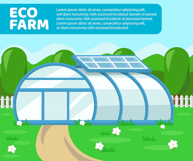 Invernadero de granja ecológica