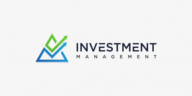 Inversión abstracta moderna diseño de logotipo inspiración, gestión, moderno, flecha, crecimiento, premium