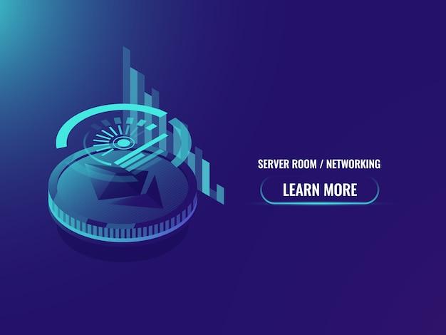 Inversión en criptomonedas, análisis y estadísticas, calendario etéreo y gráfico