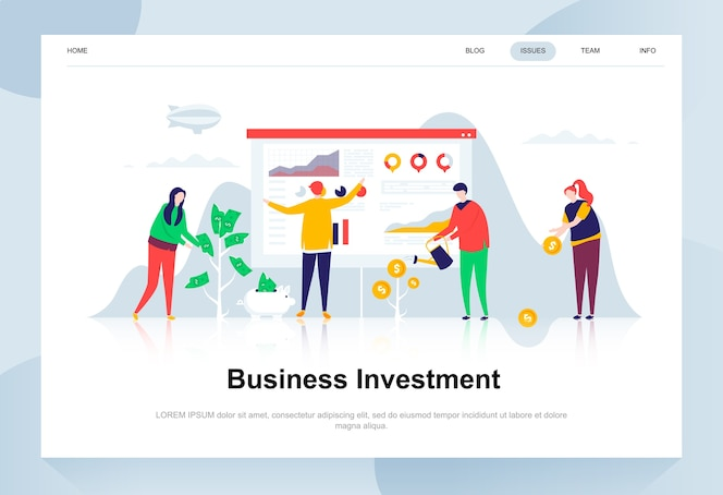 Inversión de negocio moderno concepto de diseño plano.