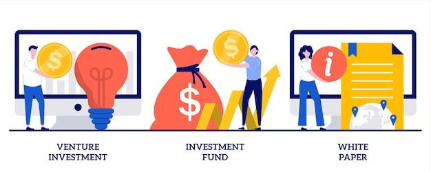 Inversión de riesgo, fondo de inversión, concepto de libro blanco