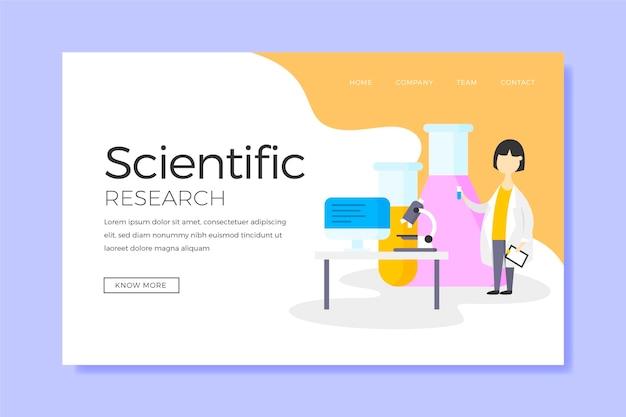 Investigación científica y página de inicio del personaje